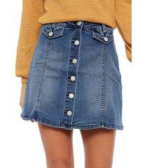 falda wados corta azul - calce regular