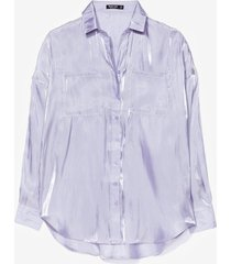 womens glass oversized shirt co ord - lilac