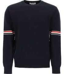 thom browne cotton sweater with logo