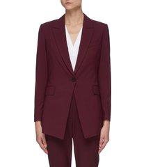 'etiennette' peak lapel single breast wool blend blazer