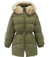 194182-376 | khaki down jacket | khaki - xs