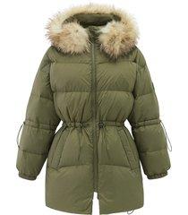 194182-376 | khaki down jacket | khaki - 2xs