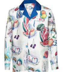 richman silk shirt jacket w.allover print overhemd casual multi/patroon soulland