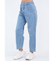 pantalón celeste plac slouchy mom