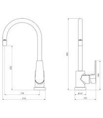 torneira mesa cozinha deca 2271.c26 level bica móvel cromado