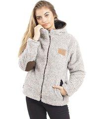 chaqueta chiporro nacional lana jaspeado crema  buffalo chile