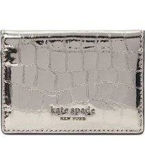 kate spade new york sylvia croc-embossed mirror card case