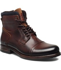 6144 snörade stövlar brun playboy footwear