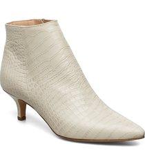 bob shoes boots ankle boots ankle boot - heel beige jennie-ellen
