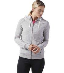 sweater reebok sport elements badstof hoodie met rits