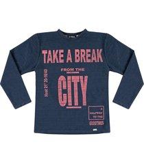 camiseta em malha diferenciada ser garoto marinho - azul marinho - menino - algodã£o - dafiti