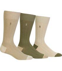 men's polo ralph lauren 3-pack ribbed socks