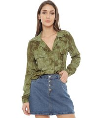 blusa 7.5 setepontocinco tie dye verde - calce holgado