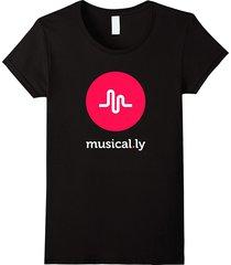 'musical.ly' t-shirt (black) women