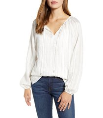 women's nydj split neck peasant blouse