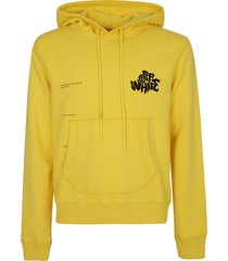 off-white blur logo slim hoodie