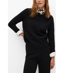 mango women's fine-knit sweater