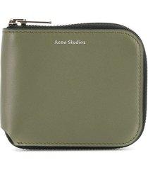 acne studios kei s wallet - green