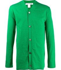 comme des garçons shirt fine knit cardigan - green