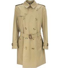 burberry mid-length kensington heritage trench coat