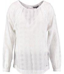 tommy hilfiger witte blouse katoen