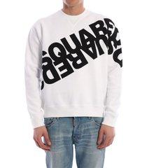 dsquared2 sweatshirt mirrored logo