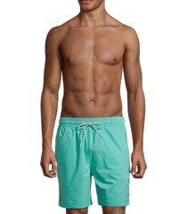brooks brothers men's montauk solid swim shorts - open green - size xl