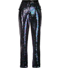 balmain sequin embellished trousers - multicolour