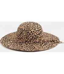 devonna leopard print floppy hat - leopard