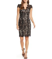 women's eliza j floral lace cocktail dress