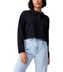 women's ryan long sleeve polo top