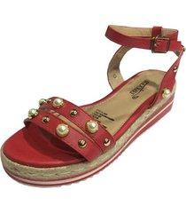 sandalia roja todopiel
