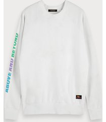 scotch & soda tie dye artwork sweatshirt