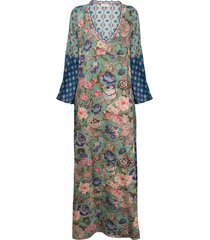 anjuna allegra kaftan dress - green