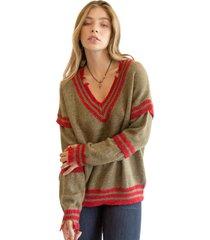 sweater old school verde militar racaventura