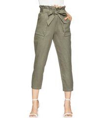 bcbgeneration cotton paperbag waist pants