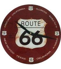 relógio de parede de vidro design route 66