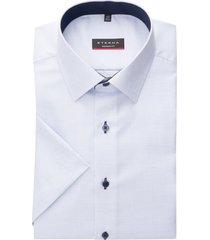 eterna overhemd korte mouw modern fit wit ruitje