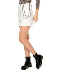 falda blanca glamorous