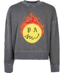 palm angels sweatshirt burning head crewneck