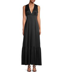 stretch-silk maxi dress