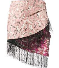 christian pellizzari ruched layered skirt - pink