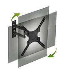 suporte articulado para tv até 55 pol elg pedestais full40-pro preto