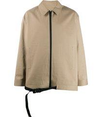 1017 alyx 9sm boxy buckled hem jacket - brown