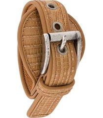 gianfranco ferré pre-owned 2000s buckle bracelet - neutrals