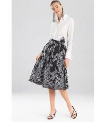 natori floral embroidery skirt, women's, cotton, size 8