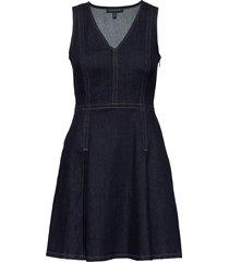 denim fit & flare dress kort klänning banana republic