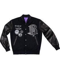 varsity jacket 33, black and white