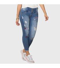 jeans push up estilo jogger stone azul medio tyt jeans