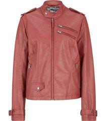 giacca in similpelle stile biker con cerniere (marrone) - bpc bonprix collection